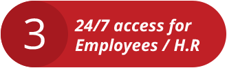 24/7 access for Employees/HR